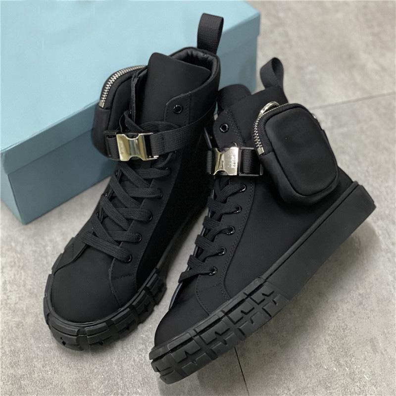 مصمم عجلة Re-Nylon أحذية رياضية Uomo Donna Piattaforma Scarpe عارضة أعلى الأحذية عالية أعلى القتال الدانتيل يصل مدرب مسطح مع صندوق 260
