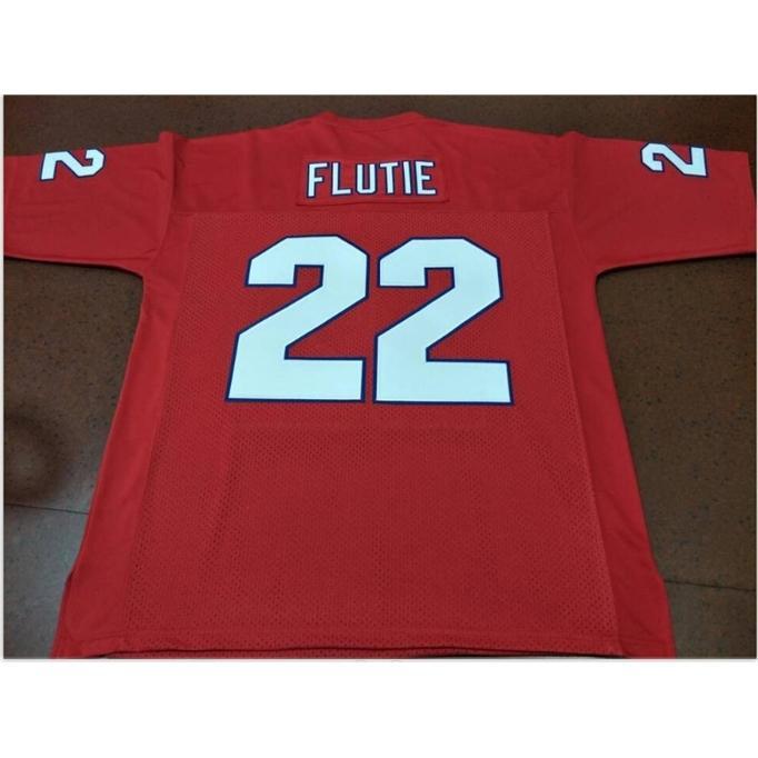 Özel Bay Youth Kadınlar Vintage New Jersey Generals # 22 Doug Flutie Futbol Forması Boyut S-5XL veya özel herhangi bir isim veya numara forması