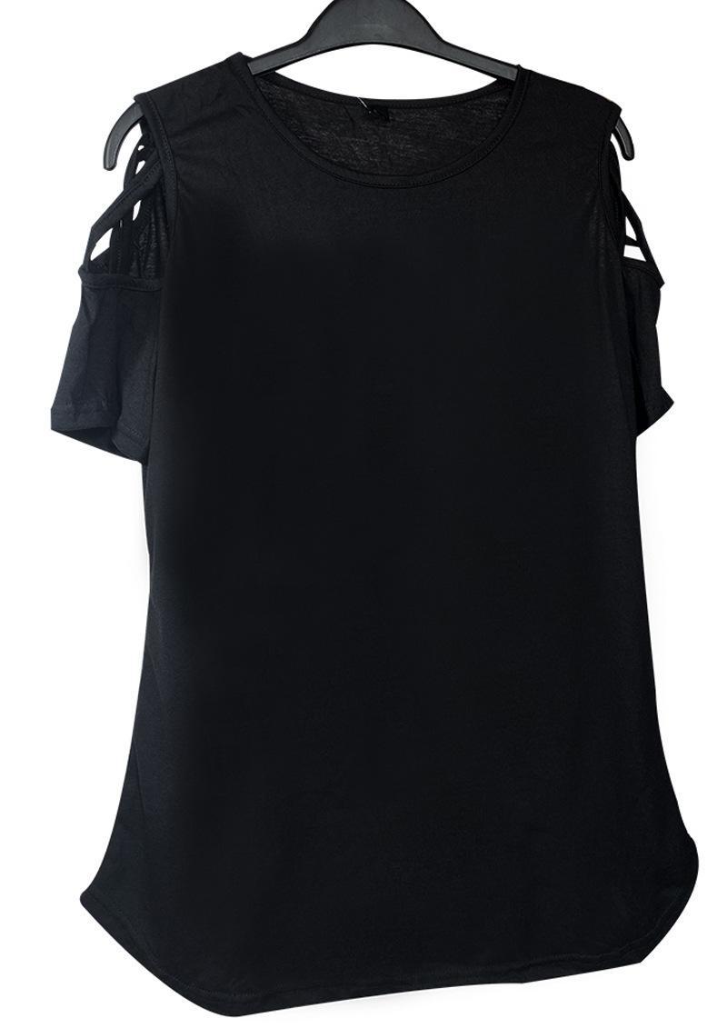 T Shirt Spring Thin Print Camiseta Sexy Drawstring Off Shoulder Mujeres Top