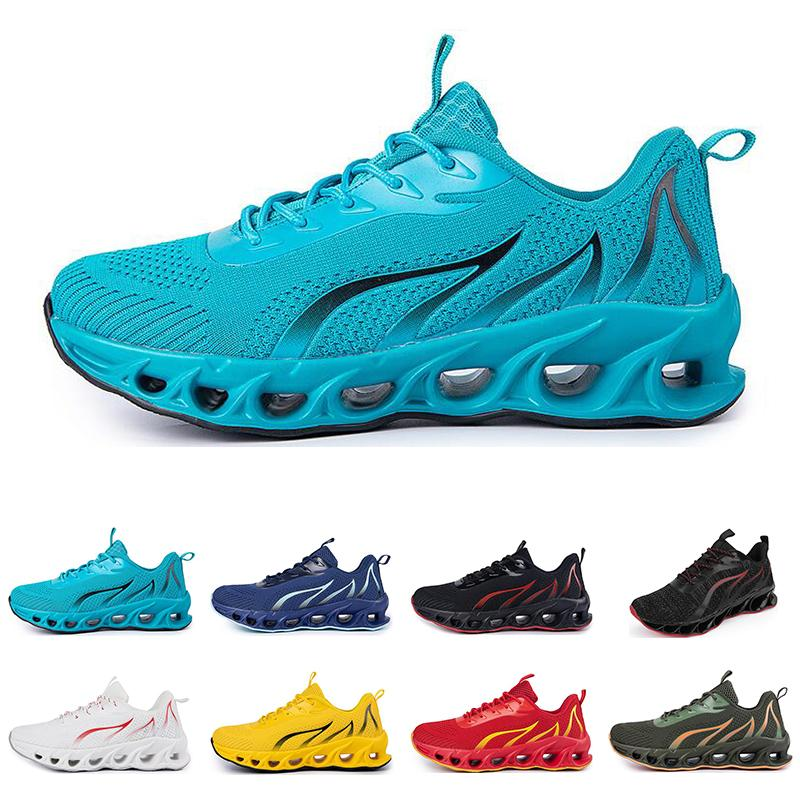 Zapatos de correr no marca Hombres Fashion Trainers White Negro Negro Amarillo Rojo Azul Bled Cred Sneakers Sports Sports # 66