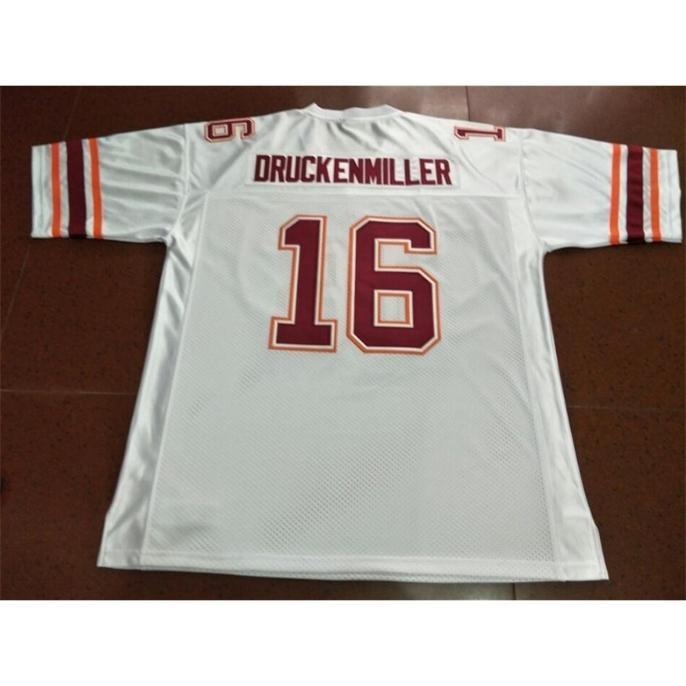 Custom Bay Youth Femmes Virginia Tech Hokies 1997 Jim Druckenmiller # 16 Jersey Football Taille S-5XL ou personnalisée N'importe quel nom de nom ou numéro de numéro