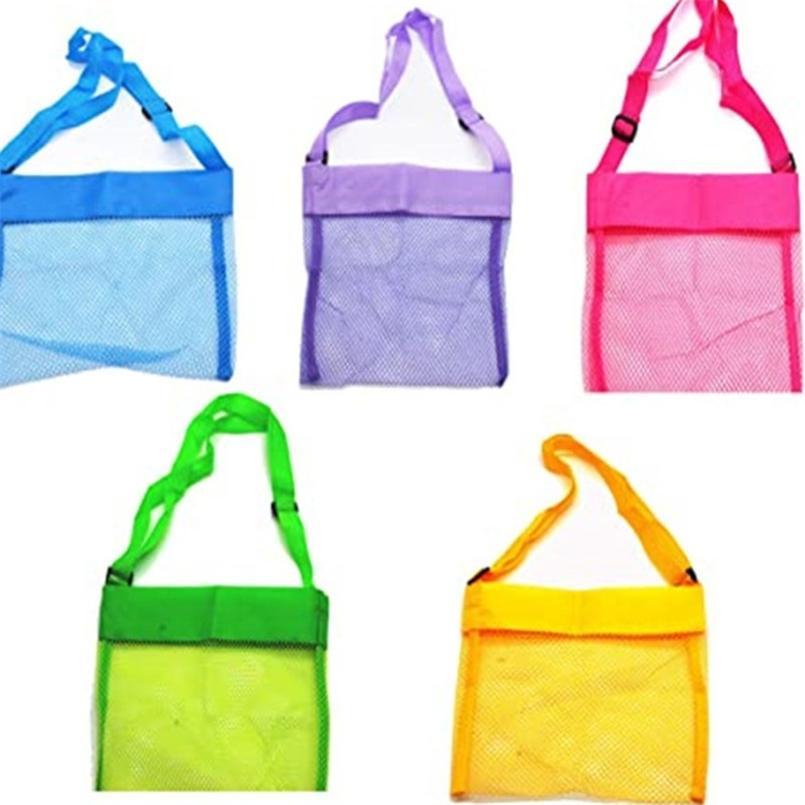 Kindertasche Strand Shell Spielzeug Mittagessen Schwimmen Reisetaschen Kinder Sand Grabwerkzeug Aufbewahrung Mesh Tasche Farbe 8 Pack Rucksack Boutique G53F0M7