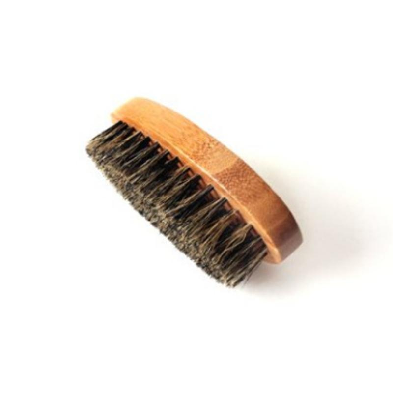 Cepillo de barba para hombres Bamboo Boar Bristles Masaje Face Masaje Cepillos de afeitar Peine Barbas y Bigote FF032202