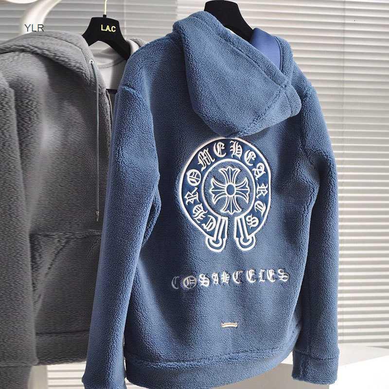 Crisin CH Cashmere Мужская крест с капюшоном вышивка с капюшоном вскользь большой рыхлый пиджак