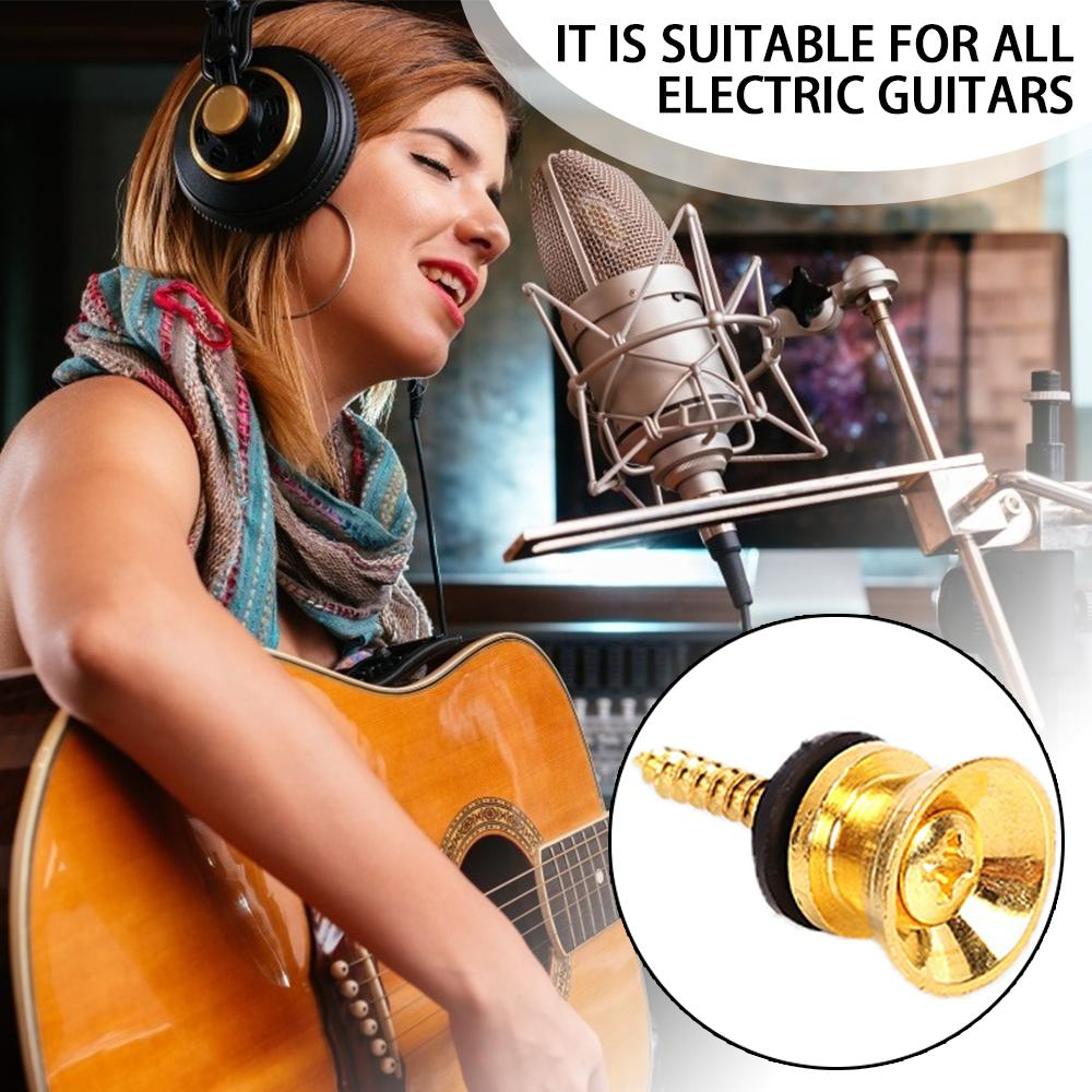 Guitar Lock Tail Pin Screw Flat Head For Acoustic Classic Electric Bass Ukulele