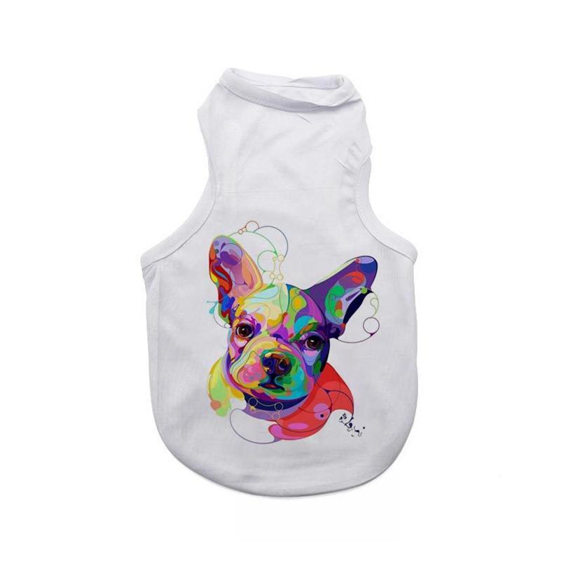 DIY DOGS T SHIRT SHIRTS APADRAR SUBLIMACIÓN Mascotas en blanco 3 tamaños Sin mangas Perro Perrito Chaleco Suministros de ropa WWA277