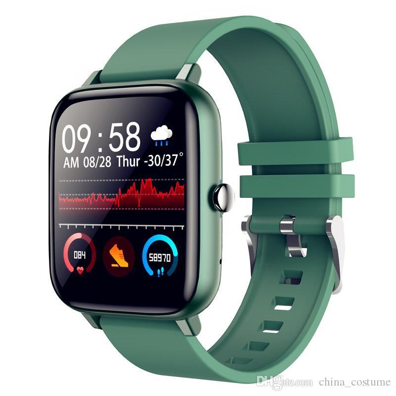 2021 Willgallop P6 Bluetooth Call Smart Watch Full Touch Blutdrucküberwachung Männer Frauen Fitness Tracker Smartwatch für Android / iOS