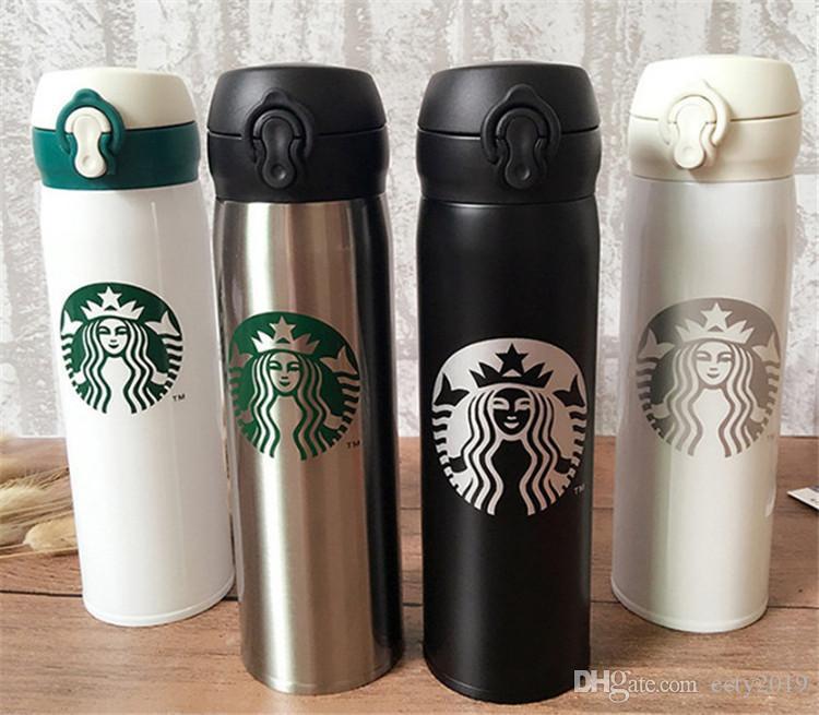 16Oz Starbucks Cups Männer und Frauen Lieblingsbecher mit Kaffeetassen Edelstahlbecher Unterstützung benutzerdefinierte Logo