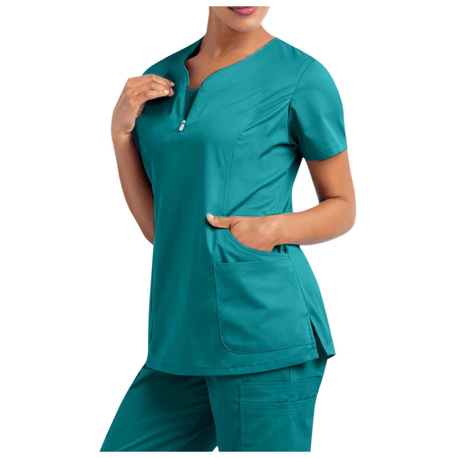 Workwear Kadınlar Sağlık İşçileri Üniforma Femme Güzellik Salonu Giysi Hemşirelik Scrub Gömlek Hemşire Tops Hemşirelik Çalışma Üniforma Hemsire