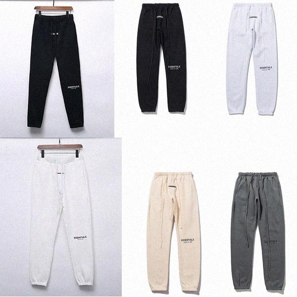 reflective Autumn Winter pants USA Fear Of God Essentials Silicone letters print Trousers Casual Fog Sweatpants Men Women FG Jogger PanFhvW#