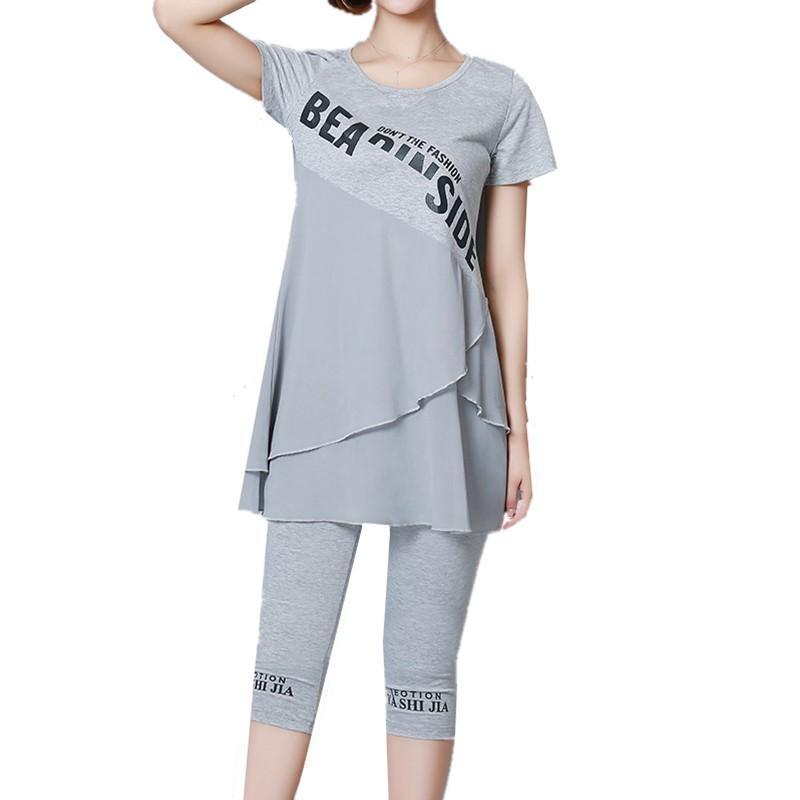 Verão Mulheres Tracksuit Suétershirts Casual Terno roupas 2 peças ajustadas fatos de calça plus size feminino esportivo mulheres tracksuits