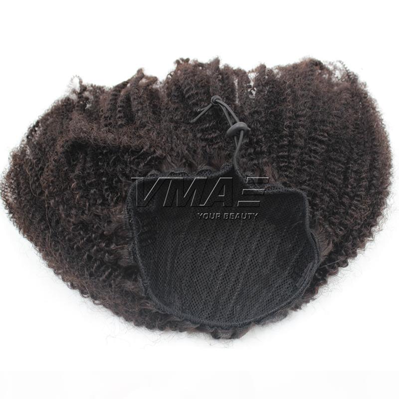 Ponye de cheval de cheveux humains péruviens Afro Kinky Curly 4B 4C Poneytail 120g Human Forfetail Non transformé Vierge Virgin Vmae Cheveux