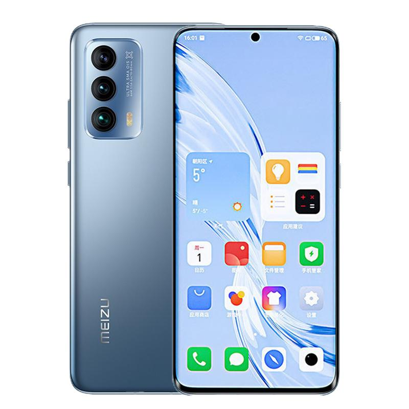 "Original Meizu 18 5G Mobiltelefon 8 GB RAM 128 GB 256GB ROM Snapdragon 888 64MP AI NFC 4000MAH Android 6.2 ""Am gelöster Vollbild-Fingerabdruck-ID Gesicht Smart-Handy"