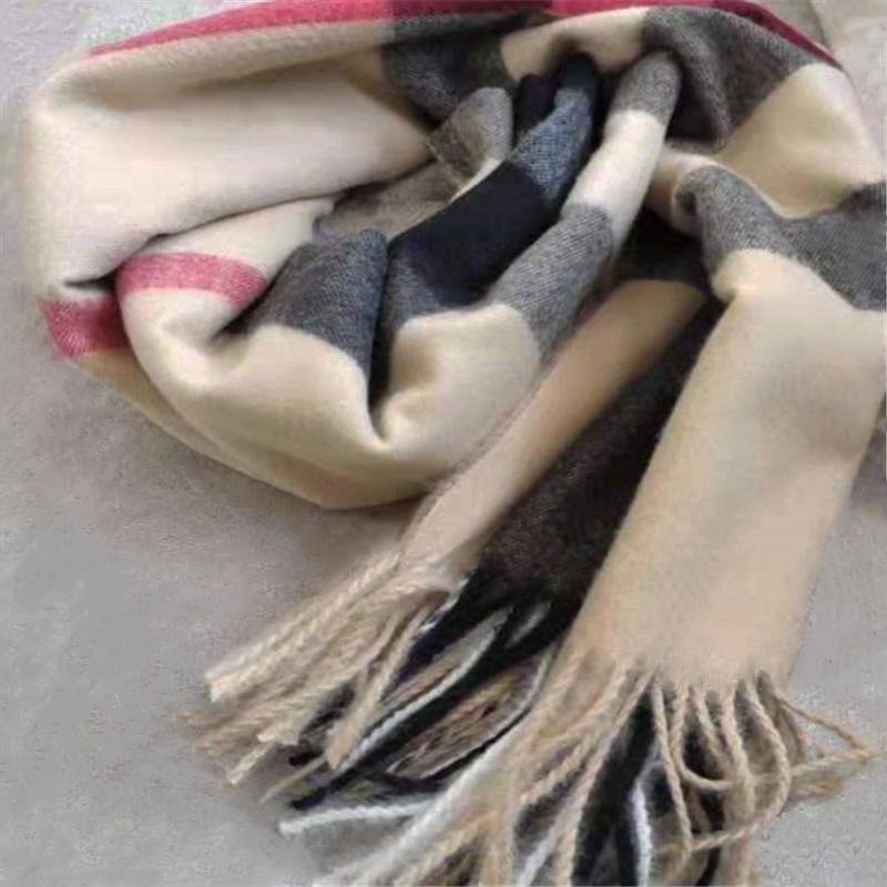 Kaşmir Eşarp Yumuşak Baskı Eşarplar Klasik Ekose Atkılar Marka Erkek Ve Kadın Eşarfları Uzunluğu200 * 70 cm