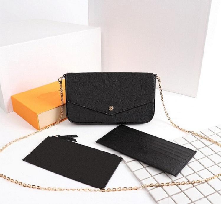 Оригинальные высококачественные роскоши дизайнеры сумки сумки кошелька женщина мода монограммы мульти Pochette Felicie цепь Crossbody сумка с коробкой пыли