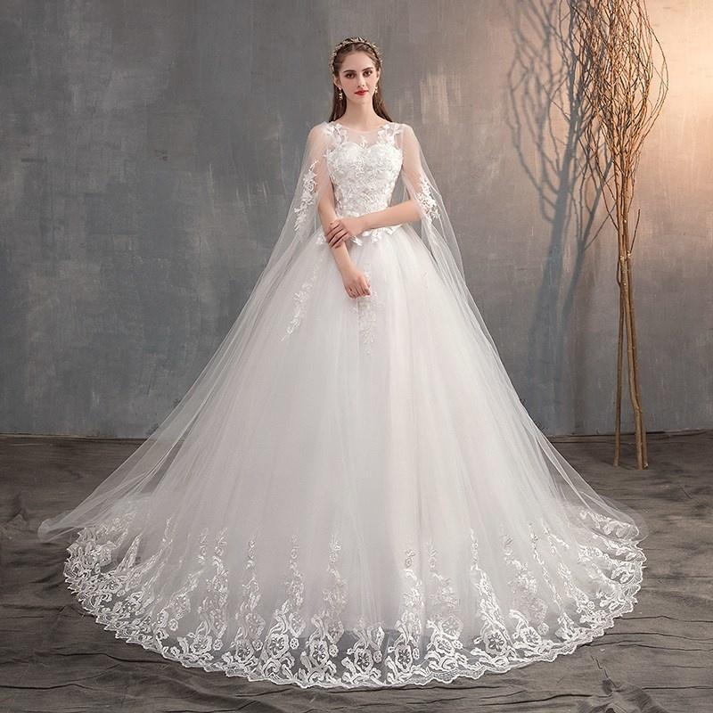 Wraps & Jackets Chinese Wedding Dr And Long Hat Lace, Tail Dr, Princ Embroidery, 2021