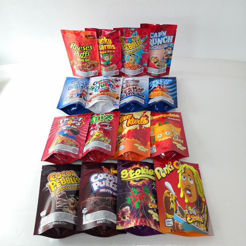 Наполненные чипсы хлопья угощение шоколад Брауни Mylar Bags Runtz Flamin Canna Bound Triss Triss Ahoy Medicated Edibles Упаковочные печенья Пакет Арахис