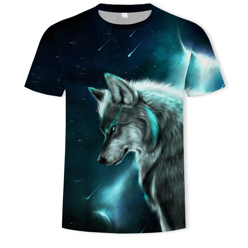 Moda novo animal lobo 3d impressão de mangas curtas t-shirt fábrica venda direto venda casual solta compassivo macho streetwearsoccer jersey