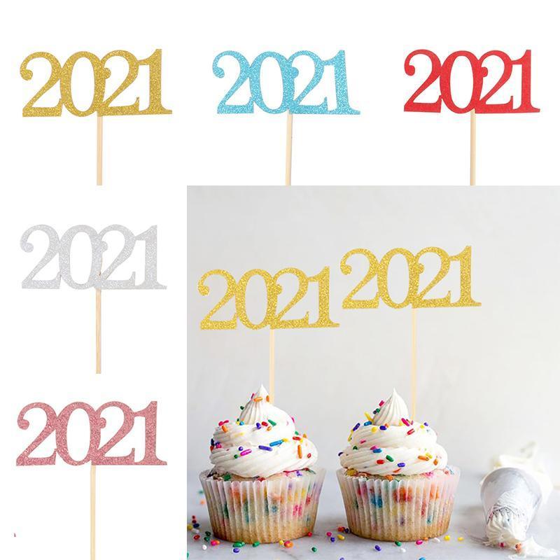 Glitter do dia do ano festa feriado bolo de bolo de cartão digital s8a5673 outros suprimentos festivos