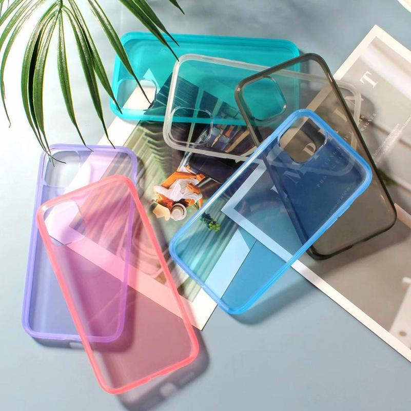 Tranparent Clear Phone Cases TPU Drop Resistant Back Cover Protector for iPhone 12 mini 11 pro X XR Xs Max 6 Colors
