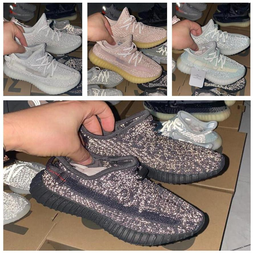 Terra Designer Kanye West Tail Luz Deserto Marsh Flax Yeshaya Childrens Correndo Sapato Yechheil Marco Pravo Reflexivo Reflexivo Crianças Sapatilhas