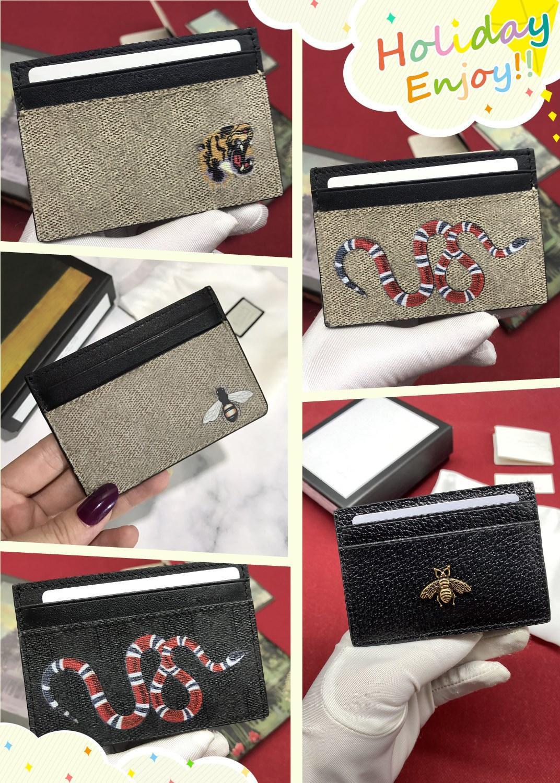2021 Luxurys Designers Cartão Sacos Homens e Mulheres Clipe Cartões de Crédito Carteiras, Sacos De Bolso, Bolsa De Chave, Alterar Bolsa 198