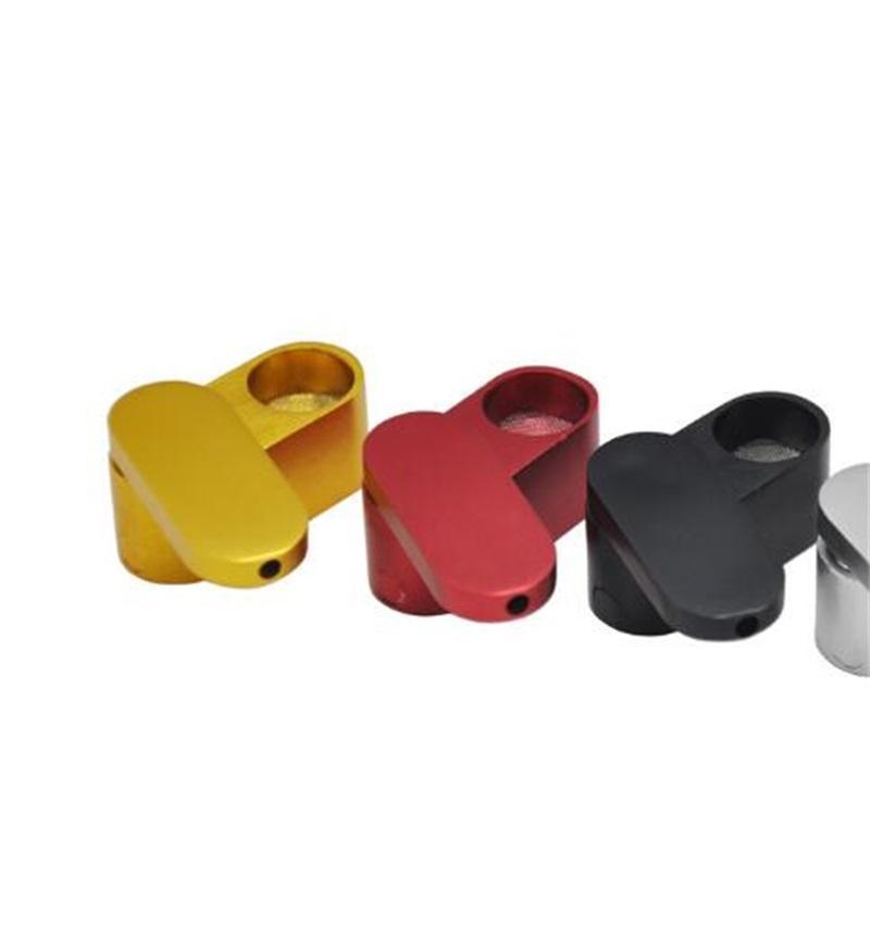 Schöne Falume Aluminiumlegierung Rotation Kräuter Rauchen Metallrohr Tragbare Doppeldeck Hohe Qualität Easy Clean Innovative Design Hot Cake DHL 349 V2