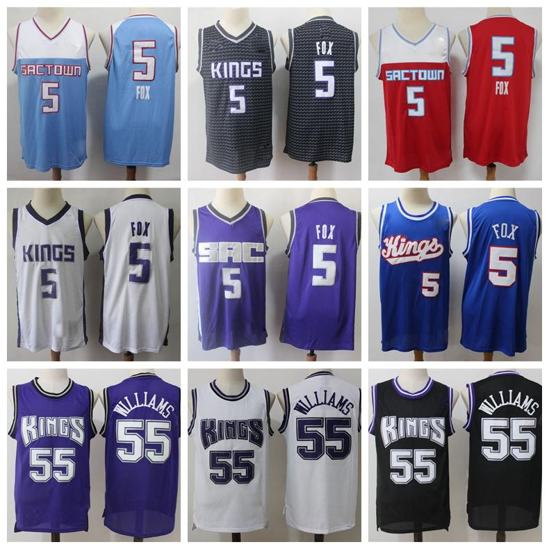 2021 Nouveau Jersey Basketball Basketball Vintage Bleu Bleu Violet Rouge