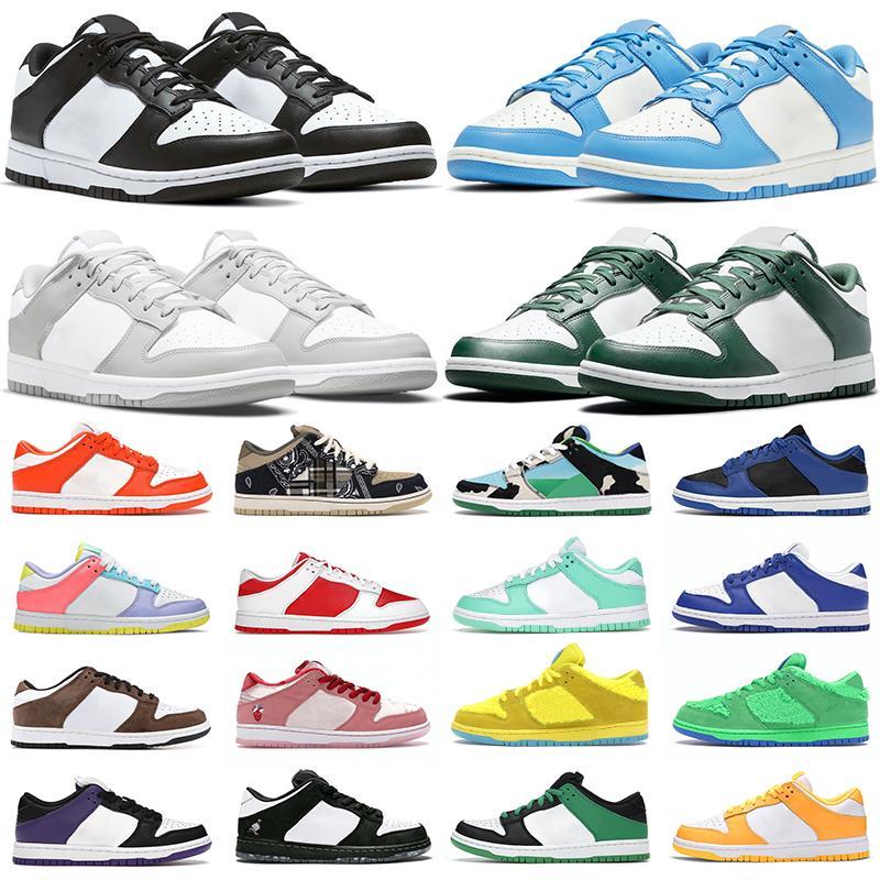 2021 dunk homens mulheres sapatos casuais Branco Preto Universidade Azul Vermelho Costa Verde Glow Syracuse Cereja Cimento Hiper cobalto Chicago tênis masculino Jogging Caminhada