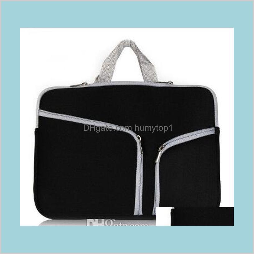 Slim Laptop Protective Case Zipper Bag Sleeve Pouch Handbag For Macbook Air Pro Retina 12 13 15 Inch Storage Bag Travelling Bags Hqhxz 1Iw5P
