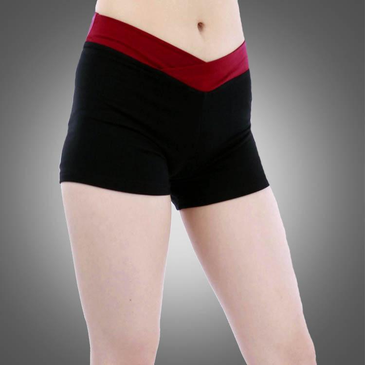 Pantalones cortos de ballet de dos tonos adultos A2526 Wholesale Belly Pole Dance Yoga