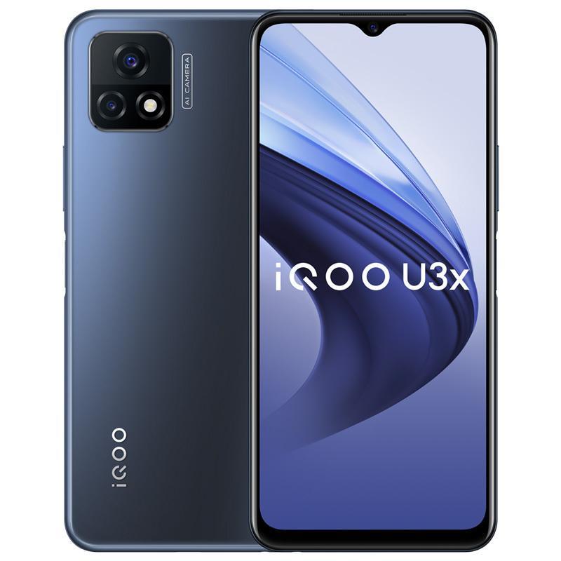 "Original vivo iqoo u3x 5g Handy 4 GB RAM 128 GB ROM Snapdragon 480 Octa Core Android 6.58 ""Vollbild 13.0mp 5000mAh Fingerprint ID FACE WACH SMART MELTELN"