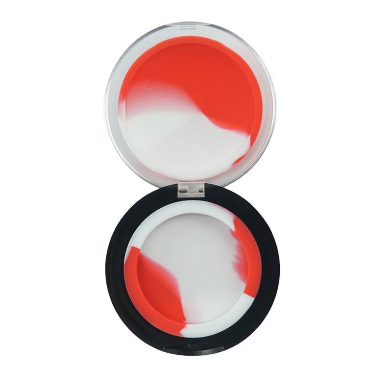 Qualidade multi cores dentro do revestimento de silicone de FDA 6ml fora do recipiente de cera de acrílico de acrílico com capa Óleo Butano frascos Dab para Vape 481 R2