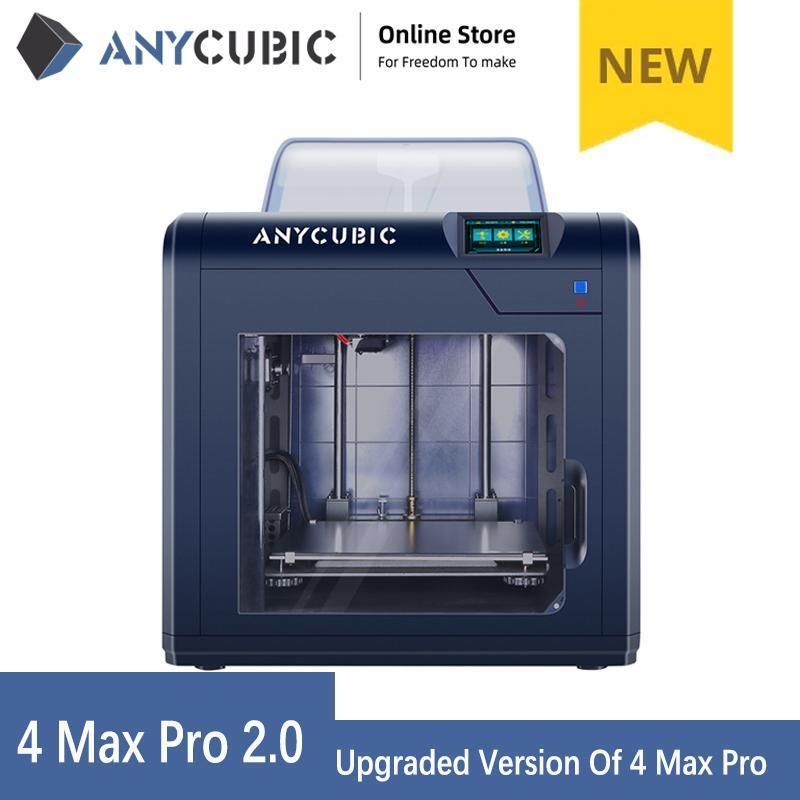 3D Printer Anycubic 4Max Pro 2.0 Upgraded Design Large Build Volume 270*210*190mm Closed Printing No Noise impresora