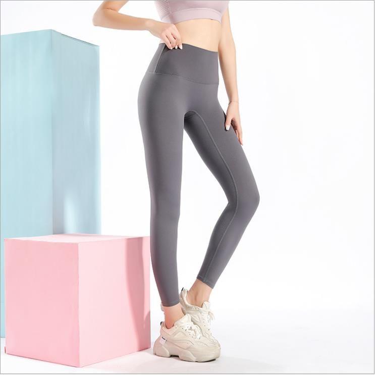 Roupa senhoras nude cintura alta sem embaraço apertado esportes esportes hip-lifting aptidão colhido calças