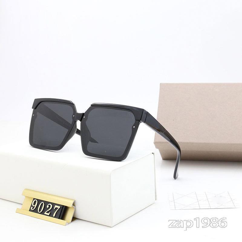 Tasarımcı Güneş Erkek Ve Kadın Retro Gözlük Kare Tam Çerçeve UV 400 Doğum Günü Yıldönümü Hediye Açık Sürüş Seyahat için Uygun 19-9027 Dahil Kutu