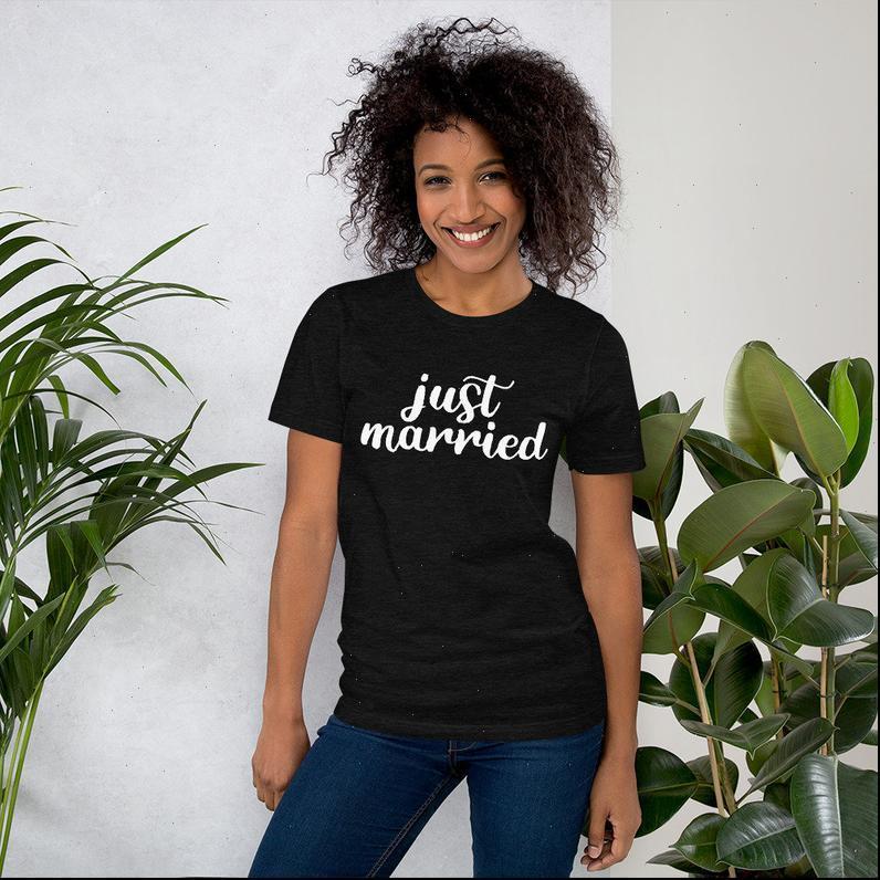 그냥 결혼 한 여자 티셔츠 프린트 여성 티셔츠 코튼 캐주얼 재미 있은 셔츠 Lady Yong Girl 탑 5 색 드롭 우주선