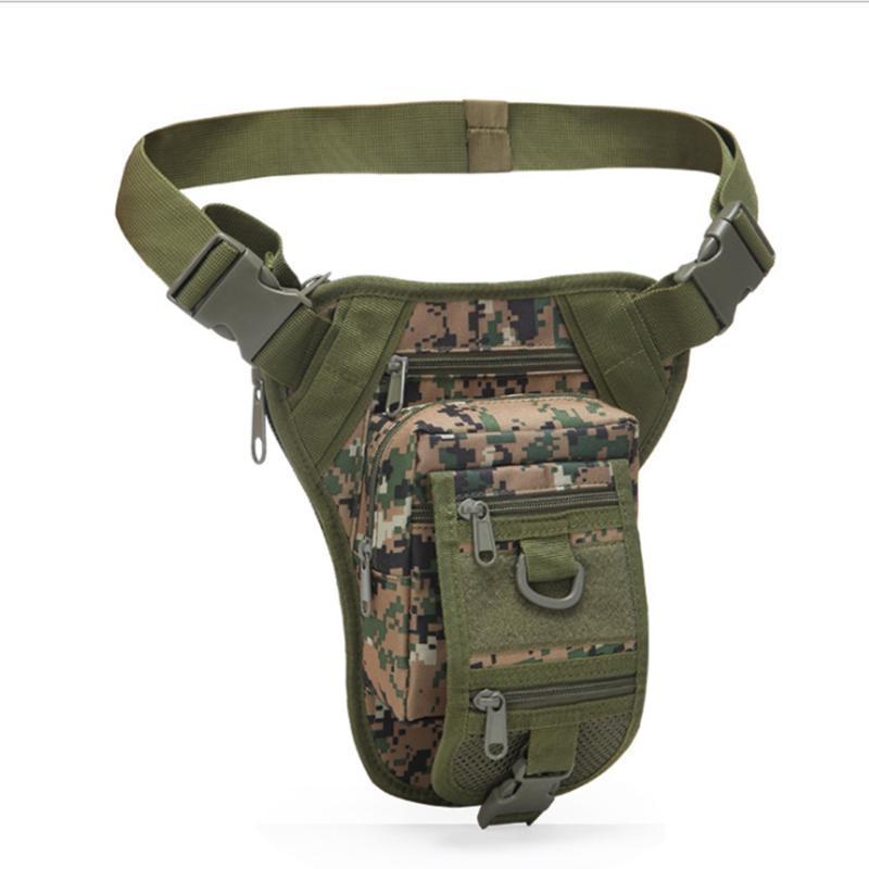 Askeri Taktik Bırak Bacak Çanta Aracı Fanny Uyluk Paketi Avcılık Bel Motosiklet Sürme Erkekler Paketleri Açık Çantaları