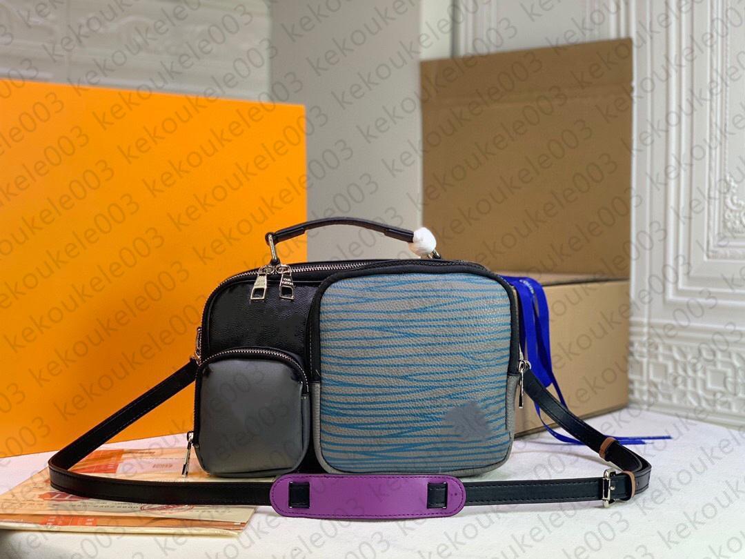 M45457 Zippe Porte-documents Business Handbody Sac à main Fashion Hommes Sac à bandoulière Cuir Sacs informatiques