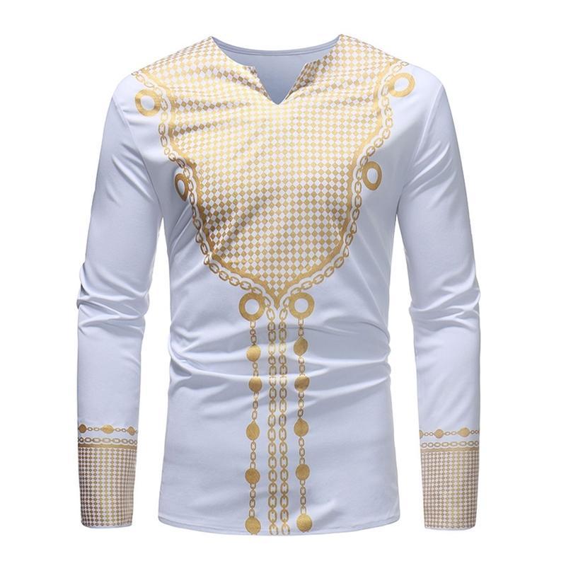 Camicia da uomo per vestiti africani Stampa Dashiki Dress manica lunga 2019 Notizie Abiti africani per le donne Abbigliamento per la moda maschio Abbigliamento Bazin