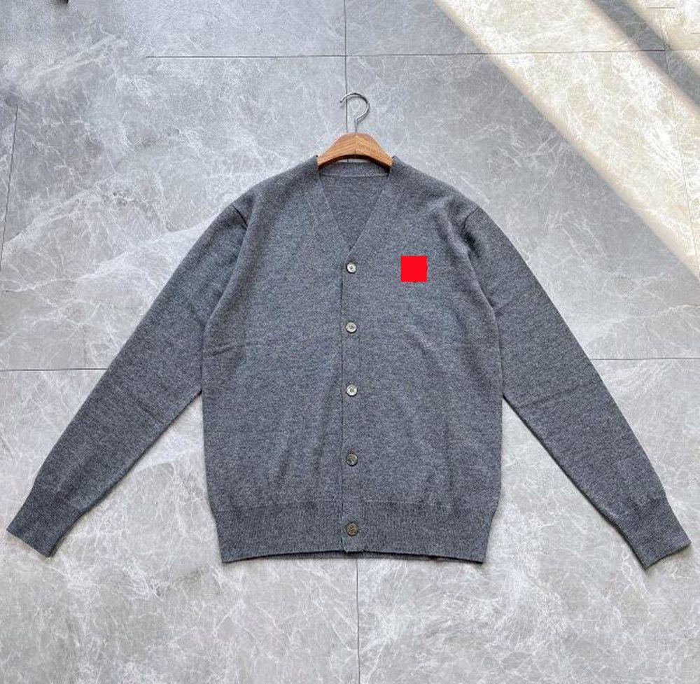 남성용 스웨터 겨울 남성 여성 고품질 스웨터 붉은 심장 디자이너 캐주얼 힙합 Streetwear 카디건 스웨터 니트
