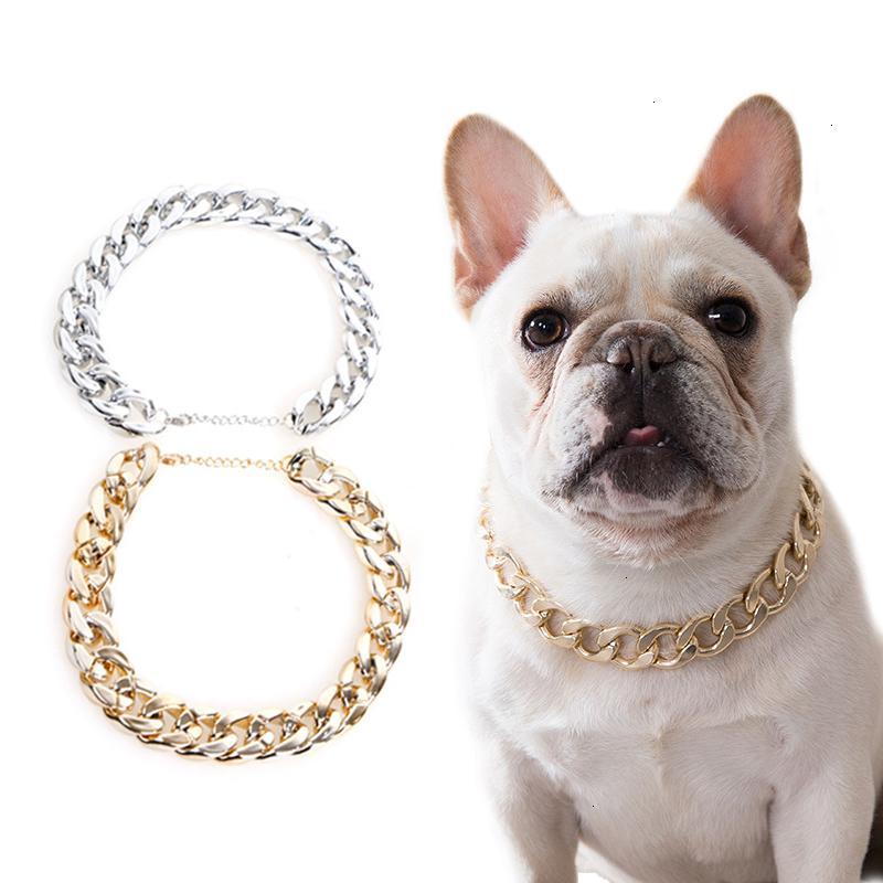 Cane Teddy Snack Accessori Accessori Catena Piccola collana francese per animali domestici argentati / cani dorati Collar