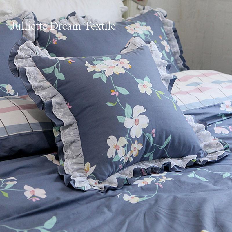 Élégante taie d'oreiller décorative à volants de la dentelle européen coussin d'oreiller américain Princess Coussin Coussin Accueil Décoration Pas de coussin de remplissage / Déco