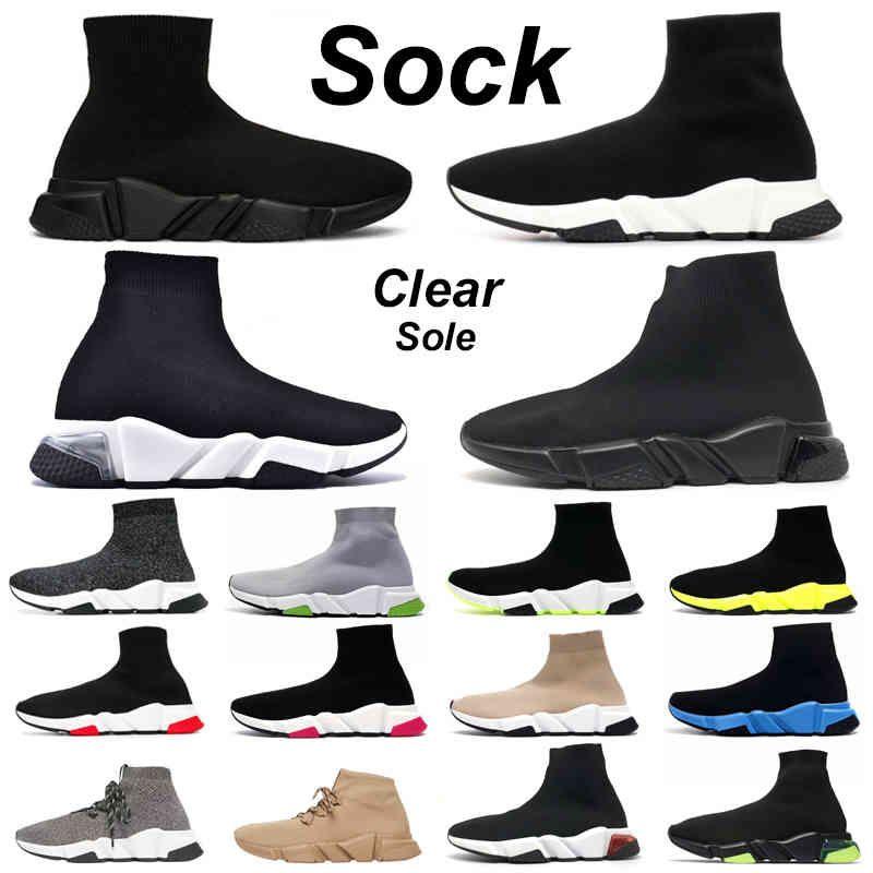 2021 zapatos de calcetines hombres mujeres graffiti chaussette triple negro blanco claro suela beige azul brillo voltio moda al aire libre para hombre tenis zapato