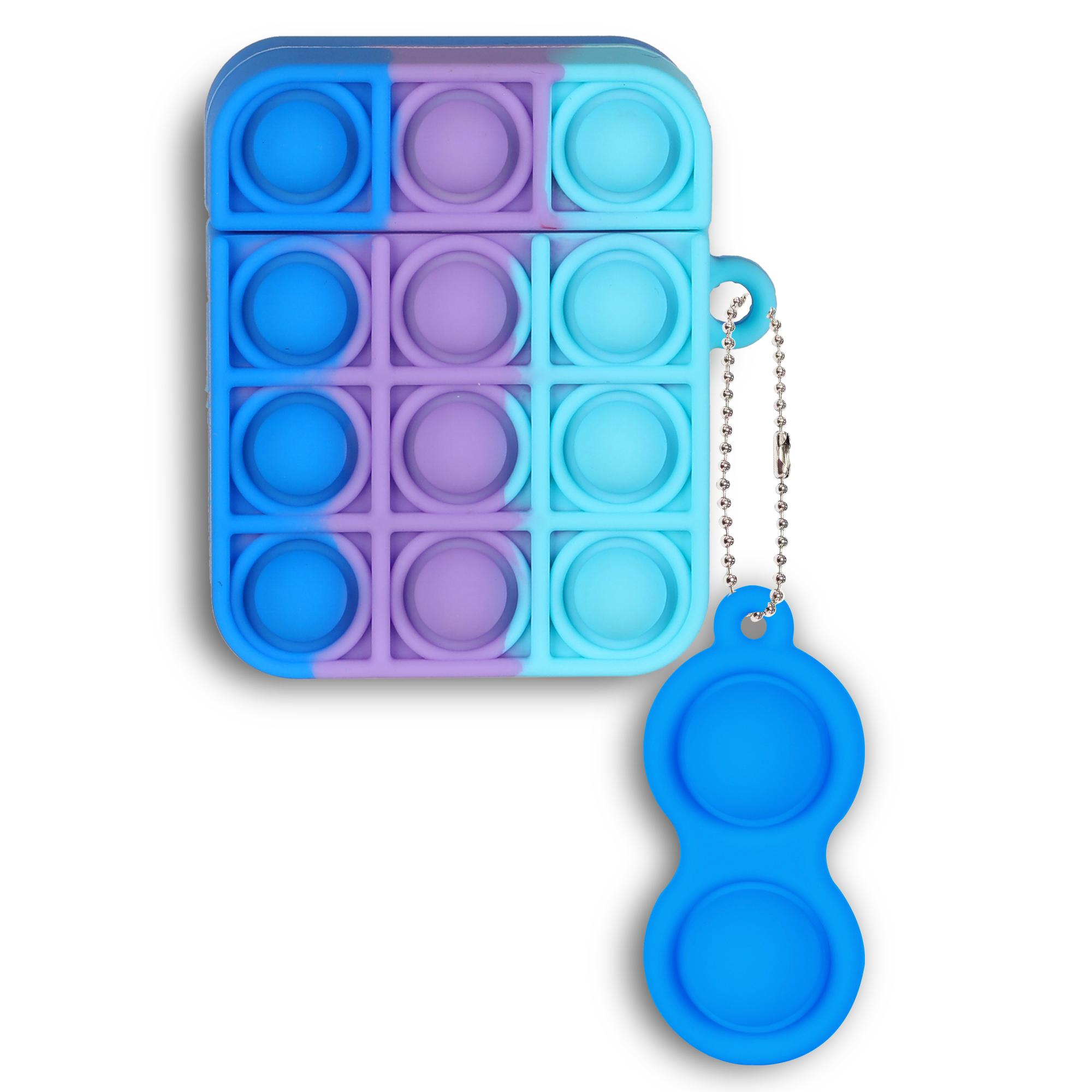 Rainbow Relive Tess Pop Fidget Toys PUSH IT BUBBLE CASOS DE PROTECTORES PARA AIRPODS PRO 1 2 SILICONA DE DECOMPRESIÓN 200PCS / LOT
