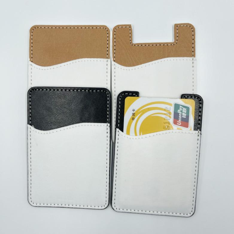 blank phone card for telephone Sublimation PU Leather print card case 100 pieces / lot