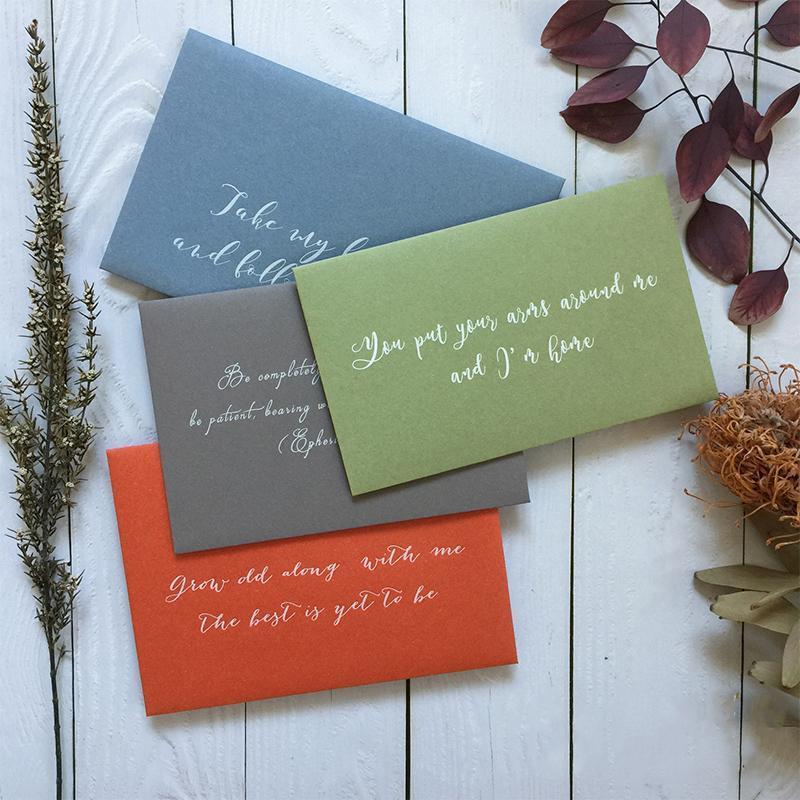 Textura áspera personalizada Morandi color gris tono blanco impresión de invitación de boda envoltura de regalo