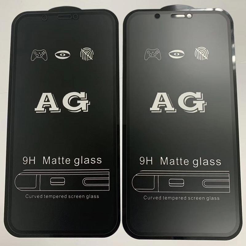 AG Mostrador de vidro temperado de AG FLIM anti-impressão digital protetor de tela premium cobertura curvada protetor para iphone 13 pro máximo 12 mini 11 xr x 8 7 6 6s plus