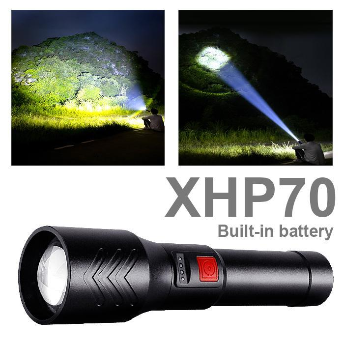 Flashlights Torches XHP70 Most Powerful Led Torch Xhp90 Usb Rechargeable Tactical Flash Light Lamp High Power Lantern For Hunting