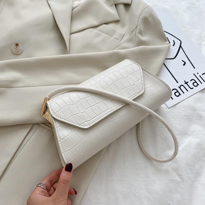 Bolsas Femininas 2020 Trendy Elegant Blue Shoulder Designer Small Purse Women Hand Bag Casual One Strap Womens Tote Handbag QQZ8